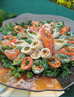 View of healthy starter served at an event
