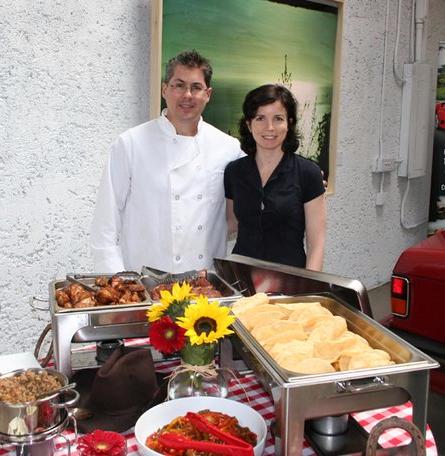 Matt McNally & Laurel Tims McNally of Laurel's Catering