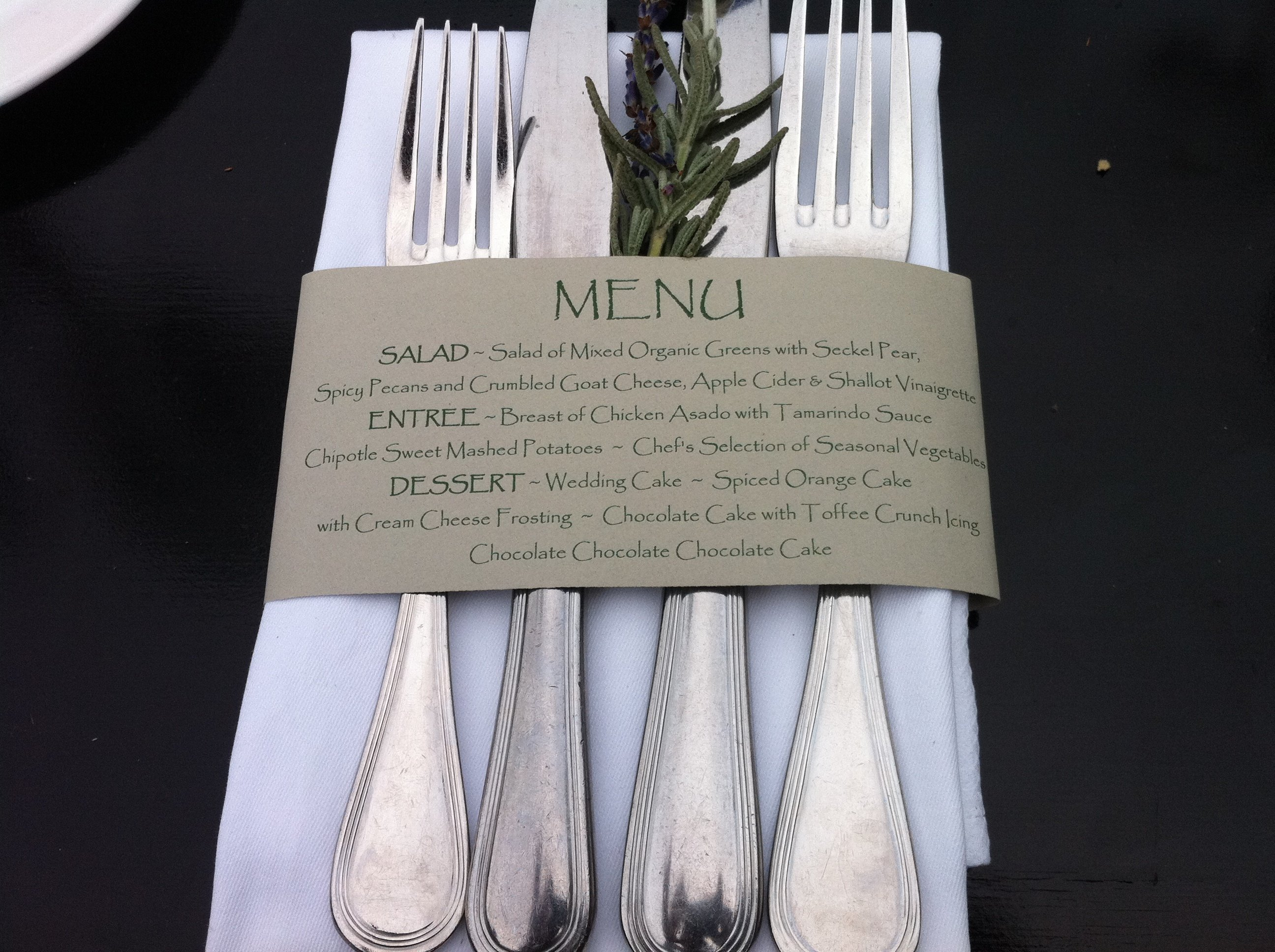 Cutlery  used at the restaurant