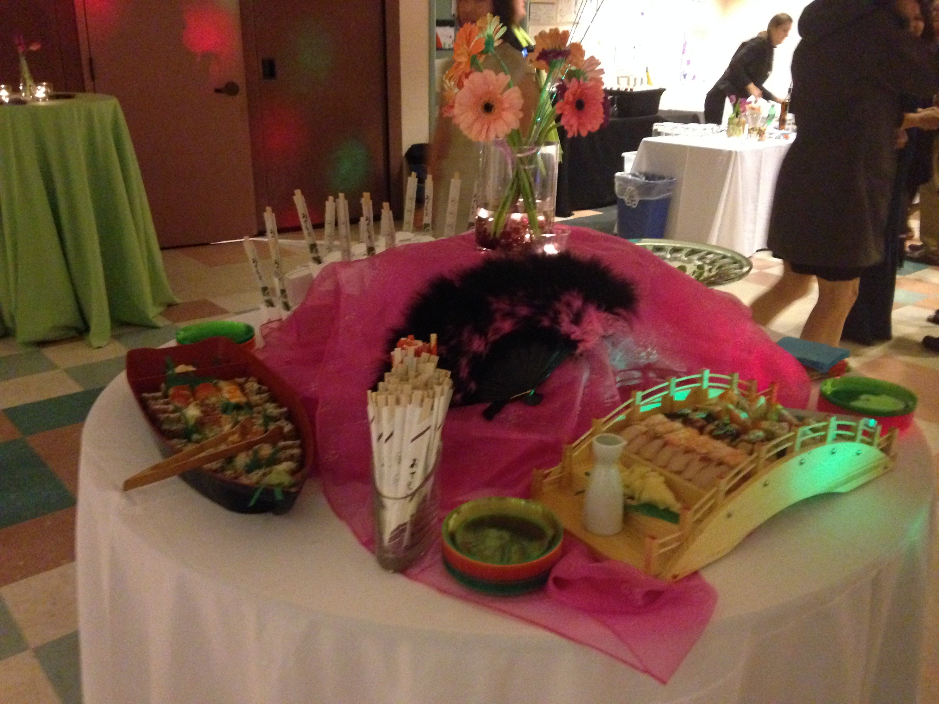 View of food served at an event