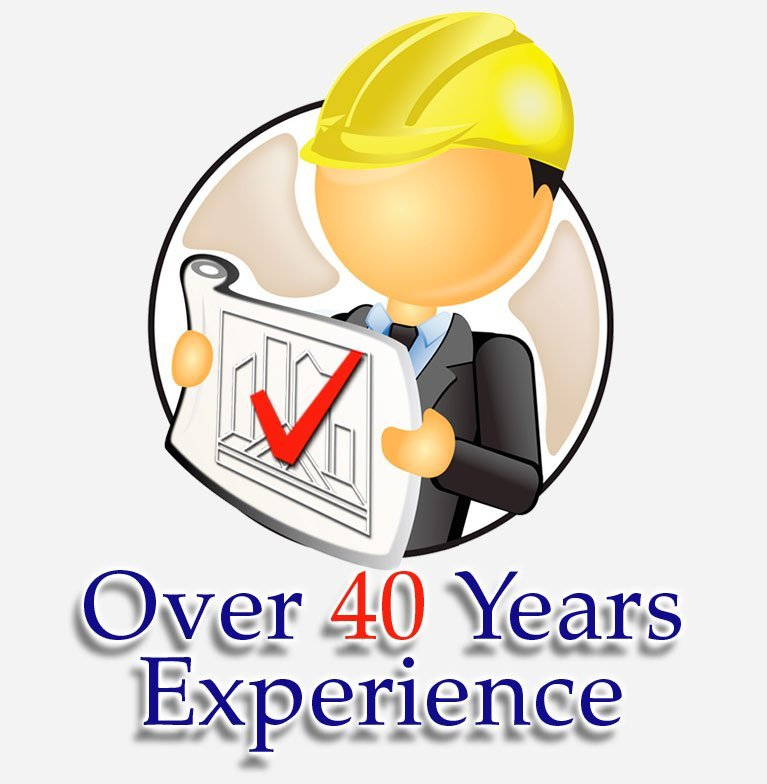 Over 40 Years Experience icon logo