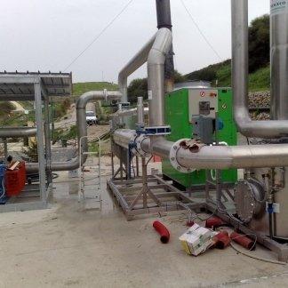 tubature di un impianto biogas