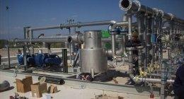 vista completa di impianto a biogas