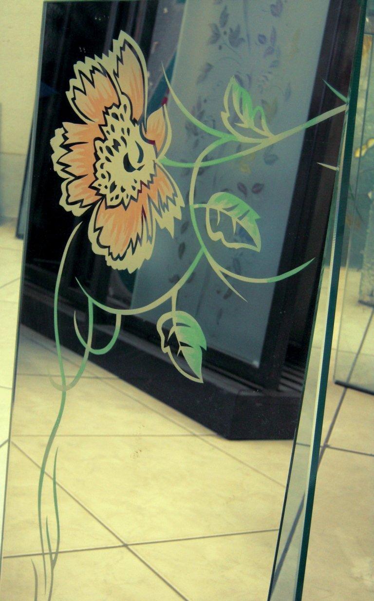 specchio decorato