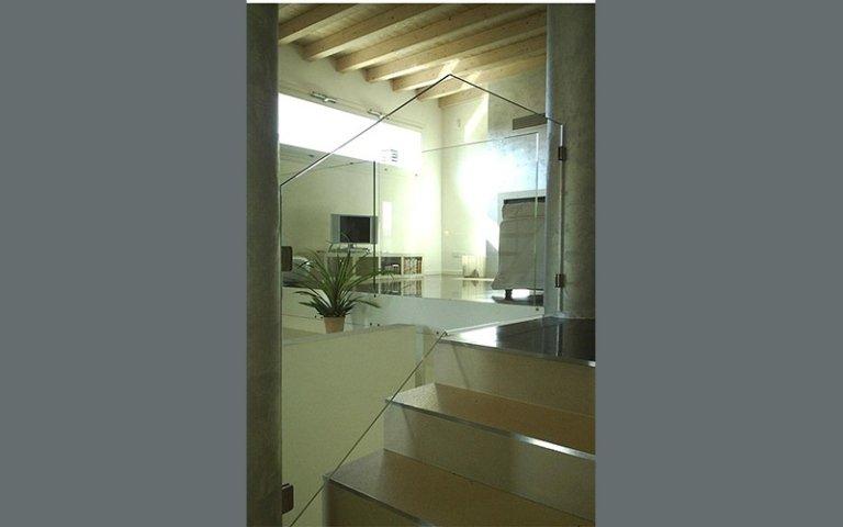 Parapetto vetro scale