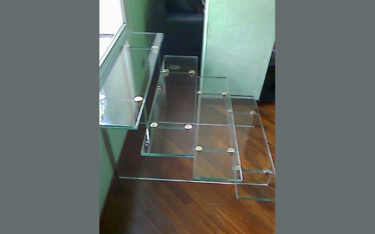 Realizzazione scale vetro