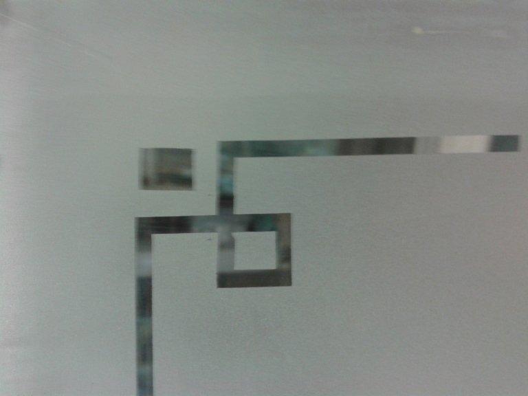 angolo vetro opaco