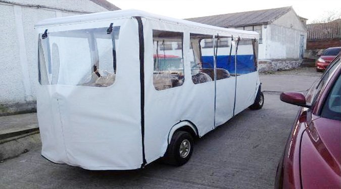 Bus Forklift tarpaulins