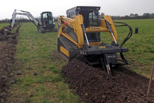 landscaping excavator