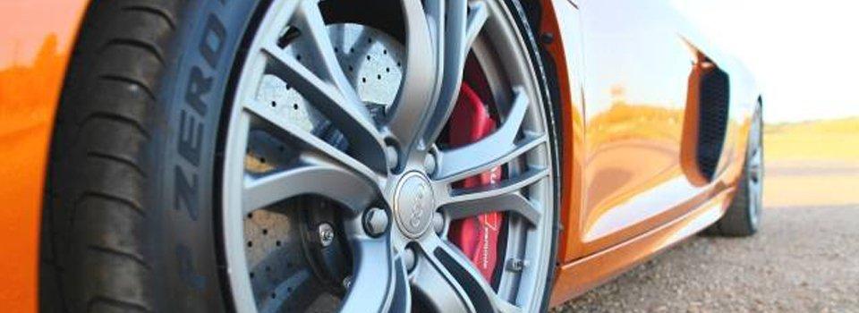 aussie brake and clutch orange car with disc brakes