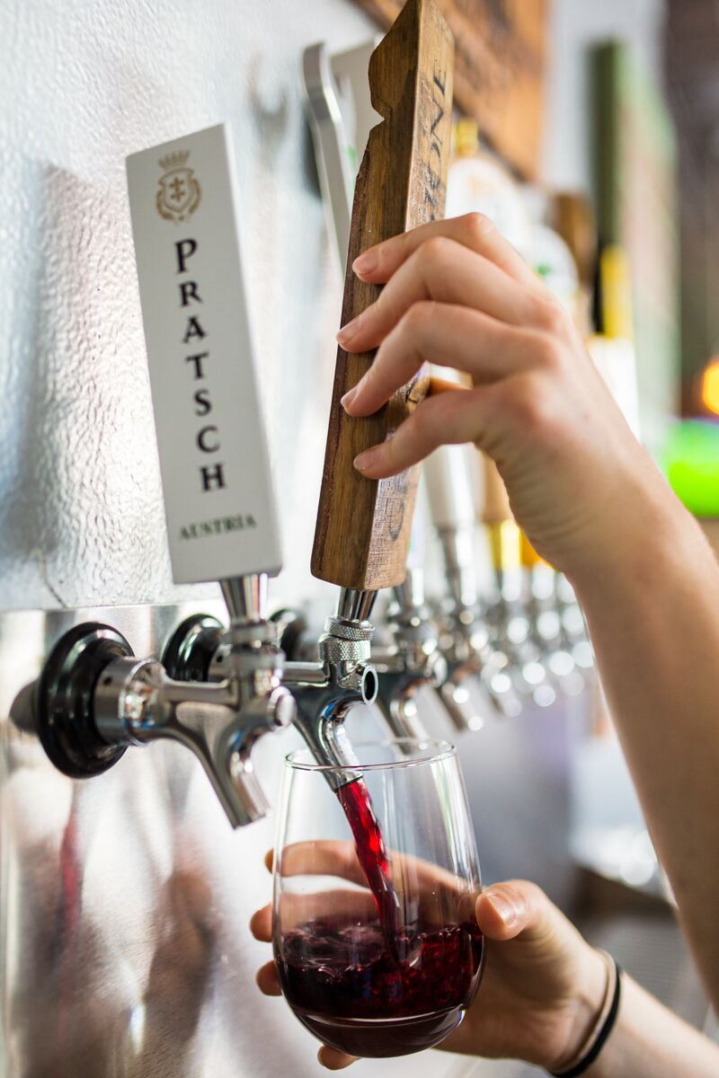 Wine on tap in Columbia, SC