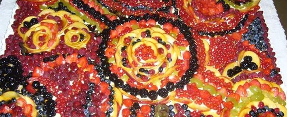 dettaglio di una crostata alla frutta