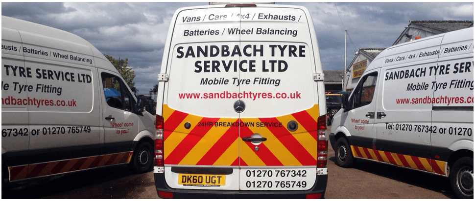 When you have a puncture in Sandbach call 01270 441 686