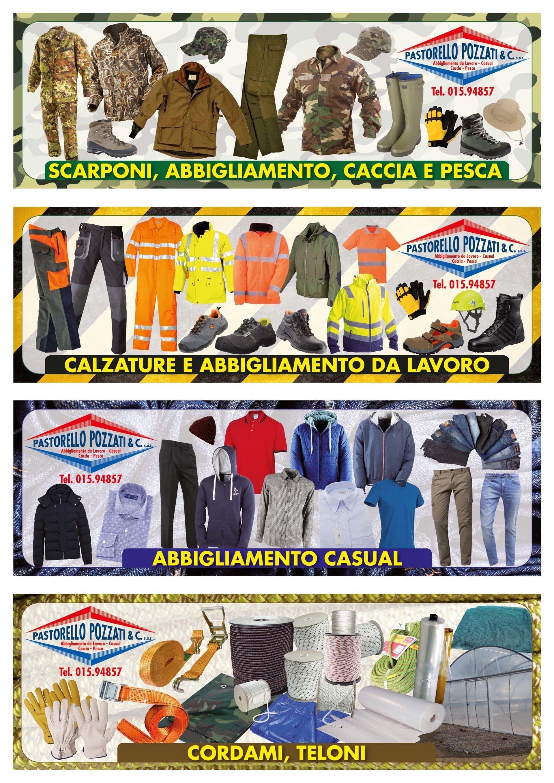 Volantino con i diversi prodotti offerti in negozio