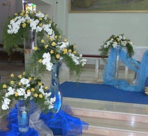 addobbi floreali azzurri