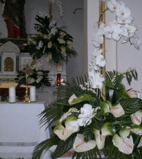 composizioni con orchidee
