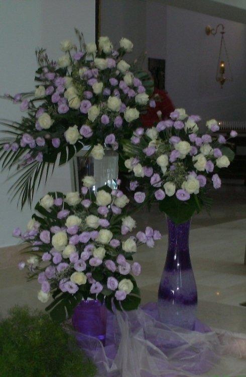composizioni floreali su vetro