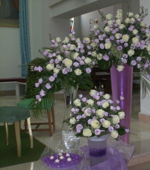 anfore floreali matrimoni