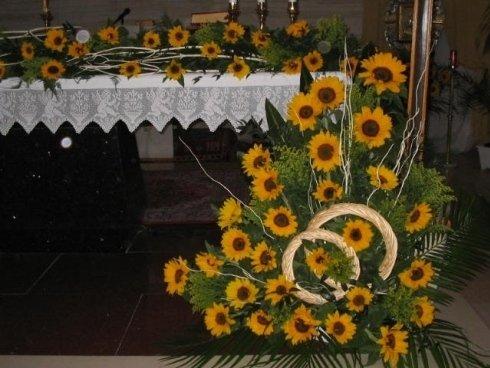 composizioni floreali girasoli