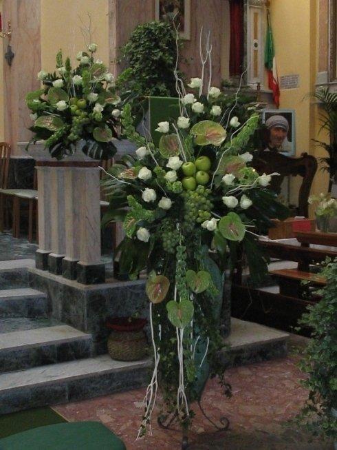composizioni frutta fiori