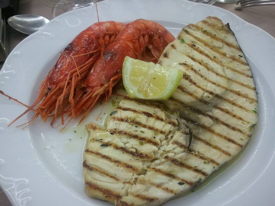 Pesce spada e gamberoni
