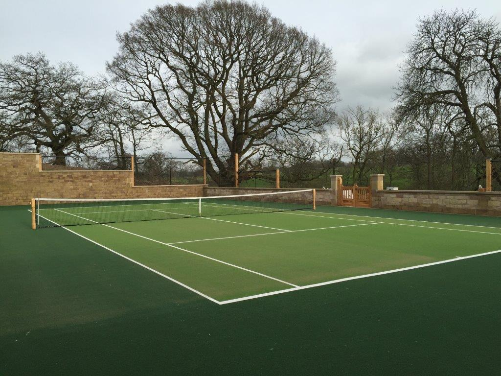 tennis court completed