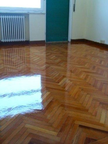 Pavimento in legno restaurato
