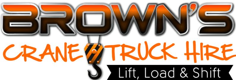 Brown's Crane truck logo