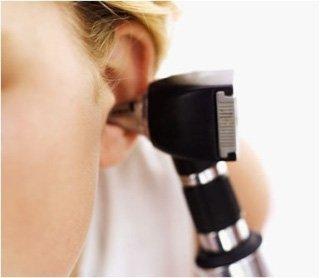 Apparato di esplorazione all'udito di un bambino