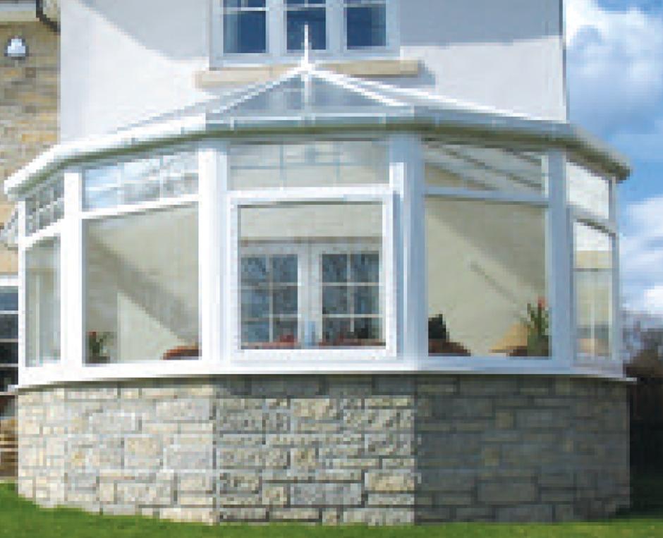 conservatory stone walling