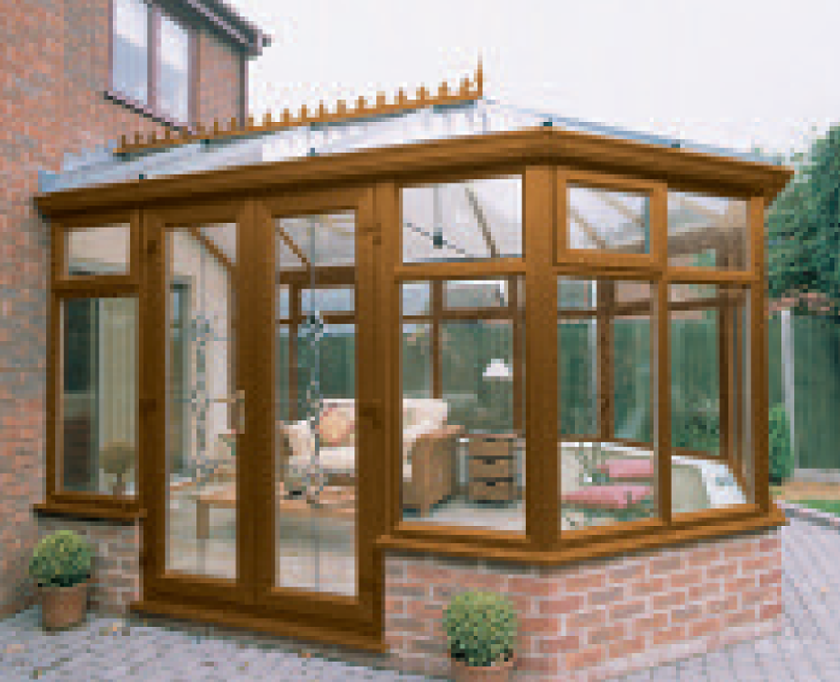 wooden glass conservatory
