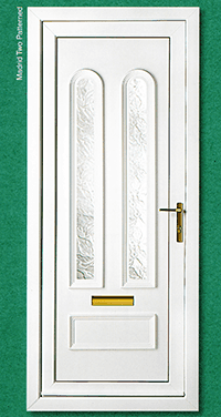 white designer door
