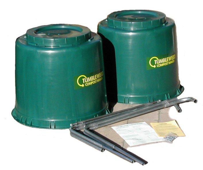 Tumbleweed compost bin dissembled