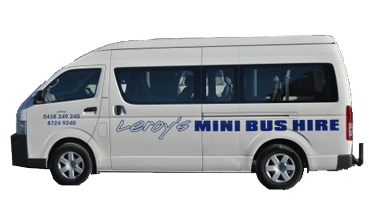 leroy's mini bus hire white van