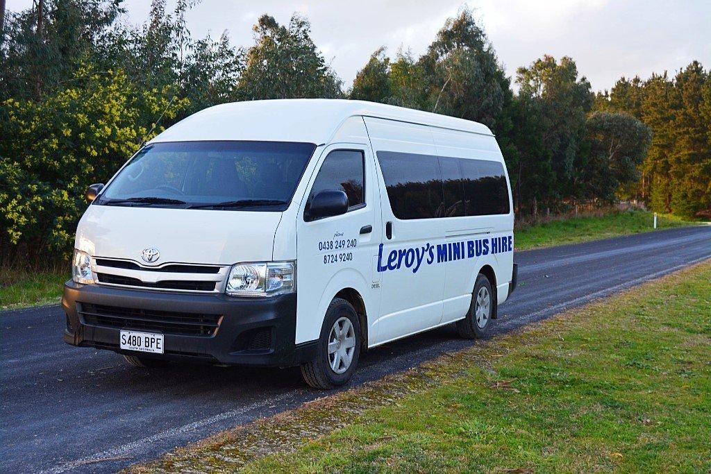 white van on open road