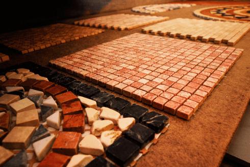 Pavimenti in mosaico prato