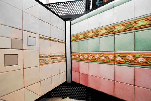 Rivestimenti in ceramica per bagno prato