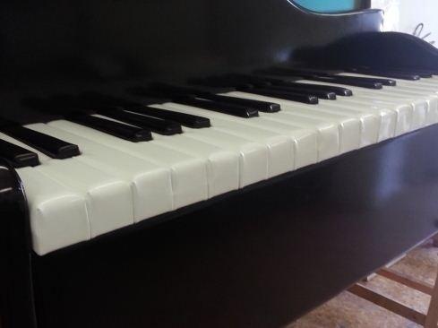 Divano in pelle a forma di pianoforte