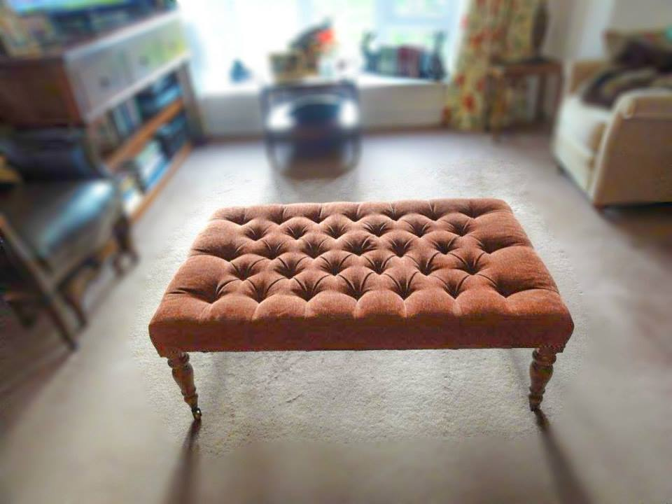 reupholstered sofa-cum-bed