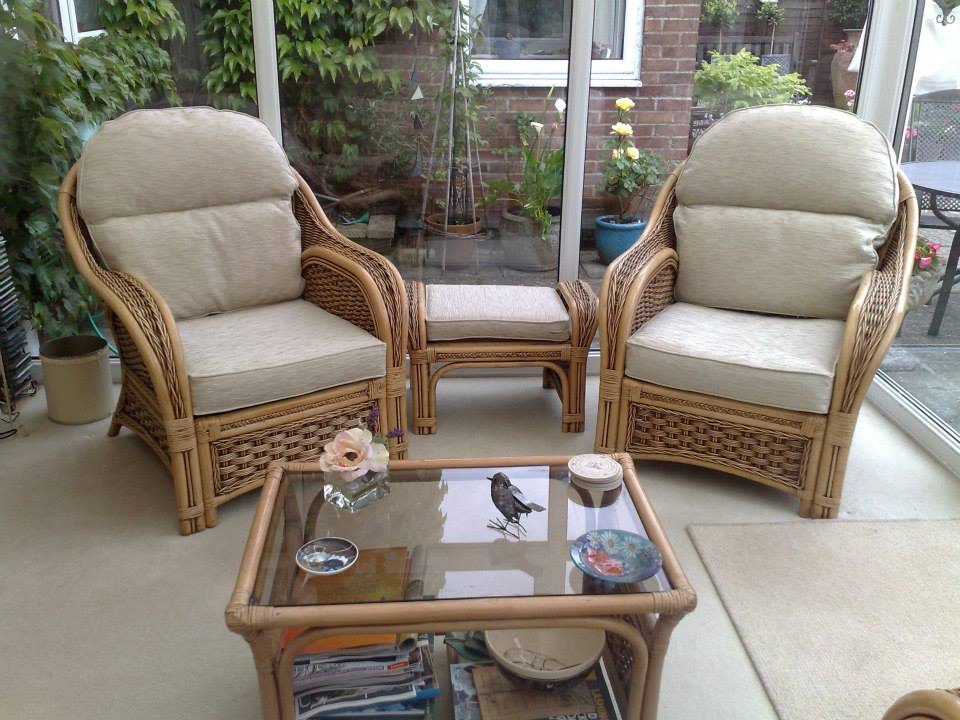 2 chairs with soft cushions