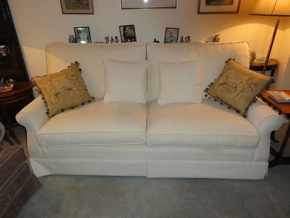 white cushion sofa