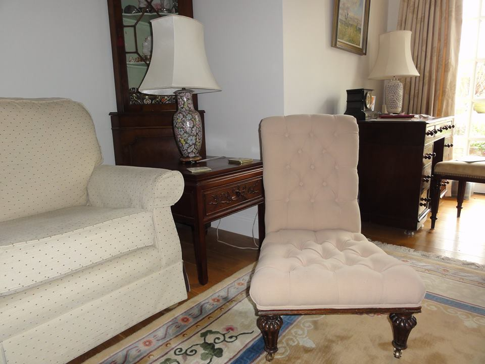 chair with cushion upholstered