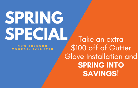 Spring Gutter Glove Installation Special in Minneapolis