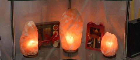 lampade di sale in 3 misure.
