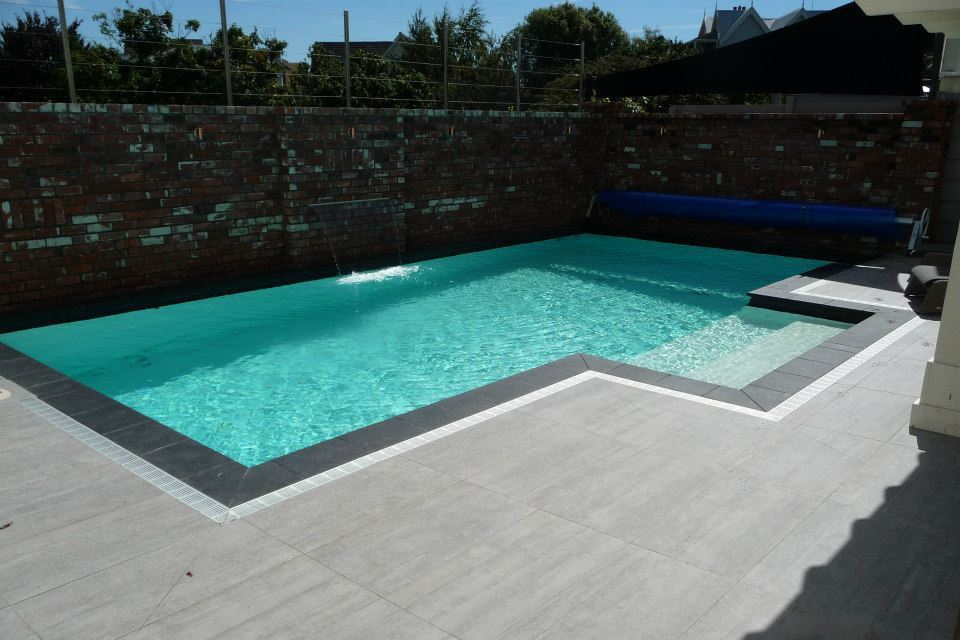 Newly installed swimming pool