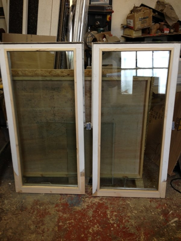 small glass doors