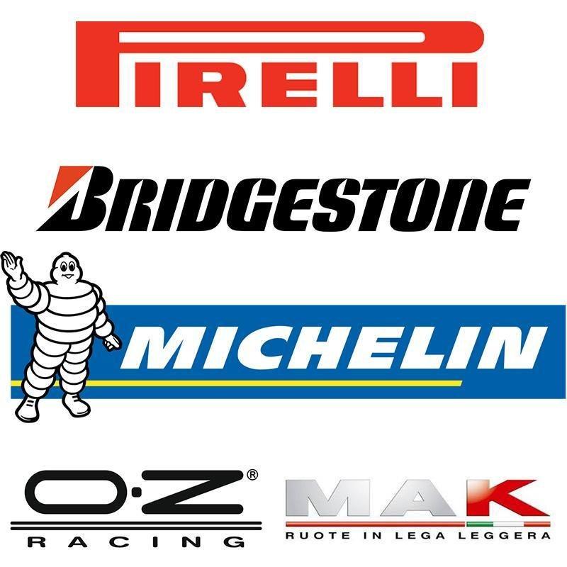 logo pirelli, bridgestone, michelin e oz mak