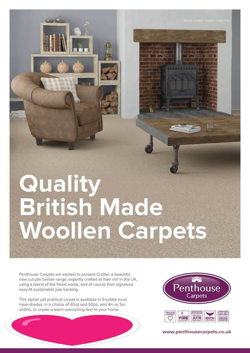 Penthouse carpets can be supplied and fitted by Phoenix Flooring Limited, Bristol.