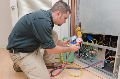 Reliable repair being done on the HVAC system in Mt. Vernon, NY
