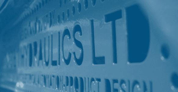 Hydraulics Ltd metal sign